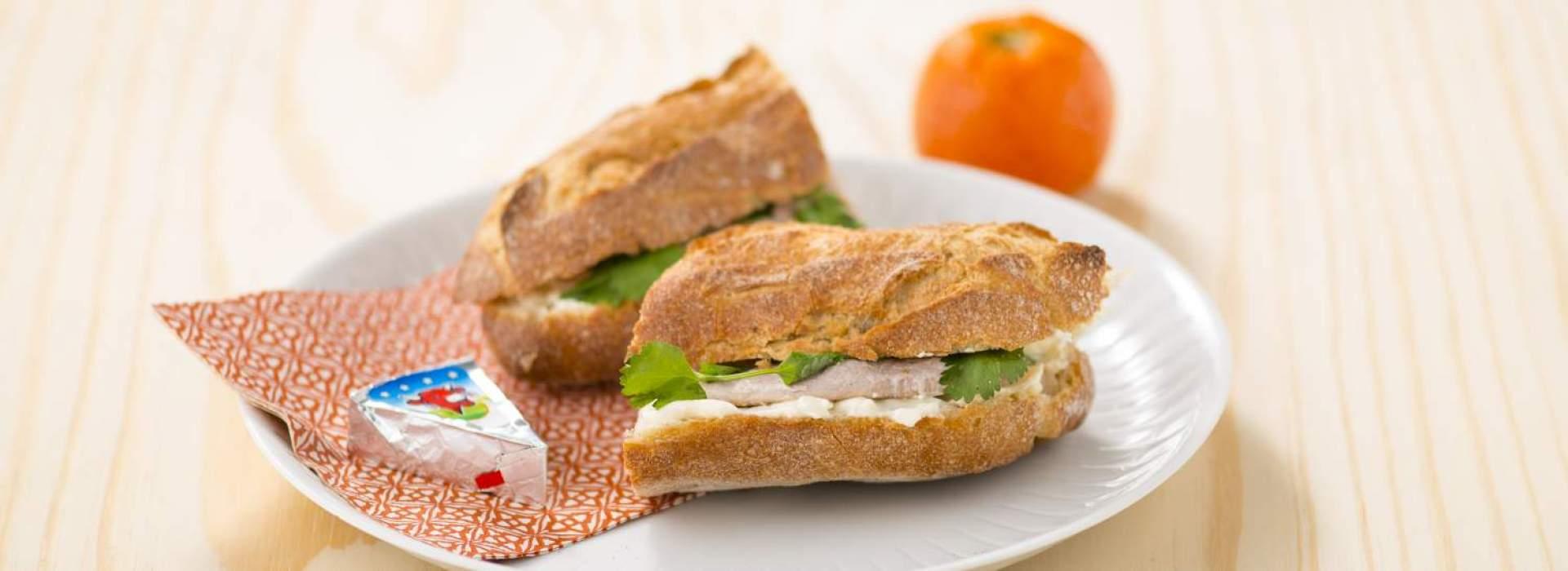 Sandwich chaud à l'escalope