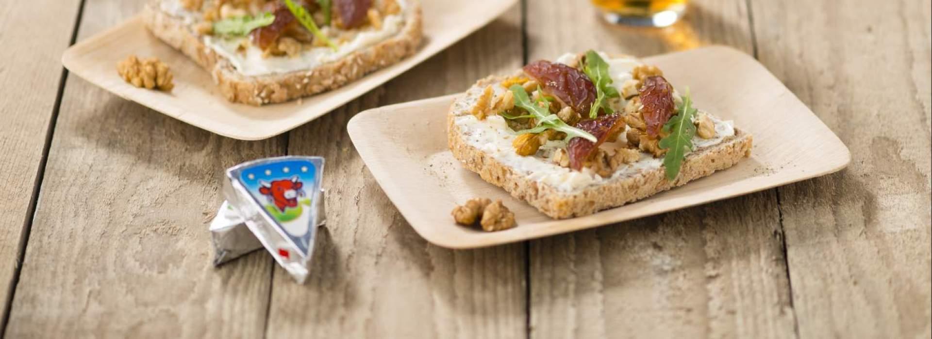 Boterham met noten en dadels